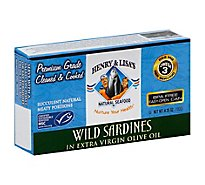 Henry & Lisas Natural Seafood Sardines Wild in Extra Virgin Olive Oil - 4.25 oz