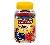 Nature Made Dietary Supplement Gummies Melatonin Strawberry Adult Size - 130 Count