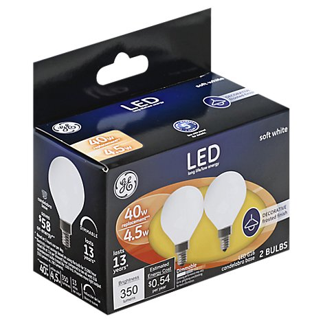 GE Led 5w G16.6 Wht - 2 Count
