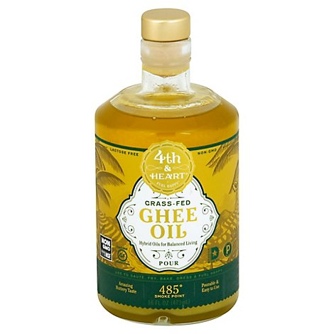 4th Heart Oil Ghee Pourable - 16 Oz