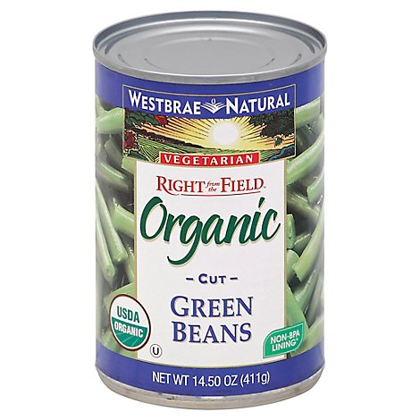 Westbrae Natural Right from the Field Organic Green Beans Cut Can - 14.5 Oz