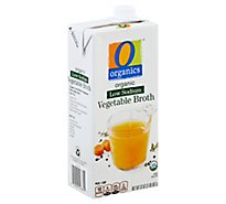 O Organics Organic Broth Low Sodium Vegetable - 32 Oz