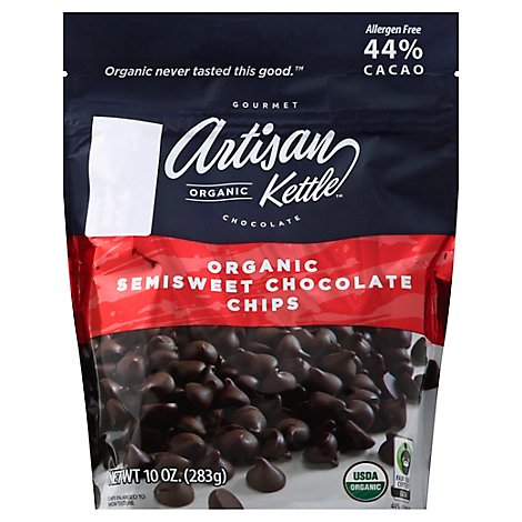 Artisan Kettle Morsels Organic Chocolate Semisweet - 10 Oz