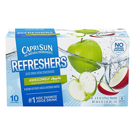 Capri Sun Fruit Refereshers Soft Drink-Ready To Drink Apple - 4 - 60 Fl. Oz.