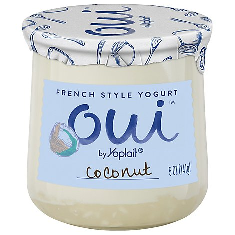 Yoplait Oui Yogurt French Style Coconut - 5 Oz