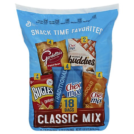 Generall Mills Snack Classic Mix Bag 18 Count - 28 Oz