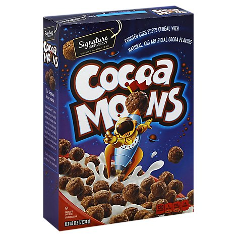 Signature Select Cereal Moons Cocoa - 11.8 Oz