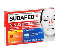 SUDAFED PE Sinus Congestion Day Night 10mg Tablets - 20 Count