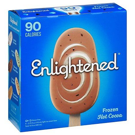 Enlightened Ice Cream Bars Light Frozen Hot Cocoa - 4-3.75 Fl. Oz.