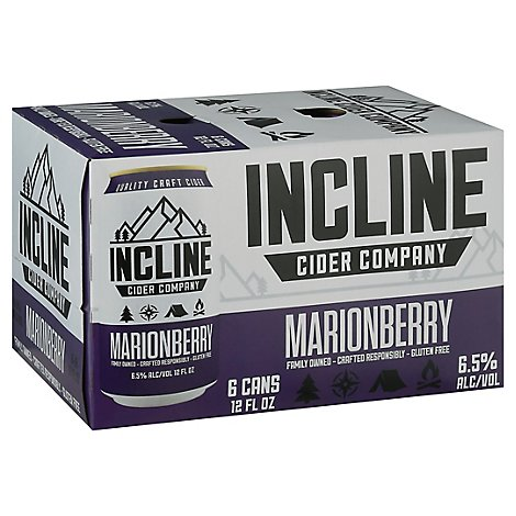 Incline Scout Marionberry Cider In Cans - 6-12 Fl. Oz.