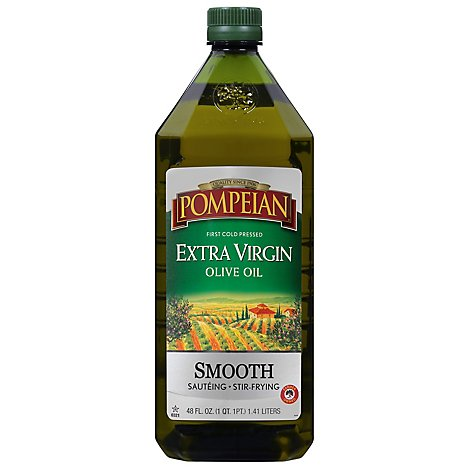 Pompeian Extra Virgin Olive Oil Smooth - 48 Fl. Oz.