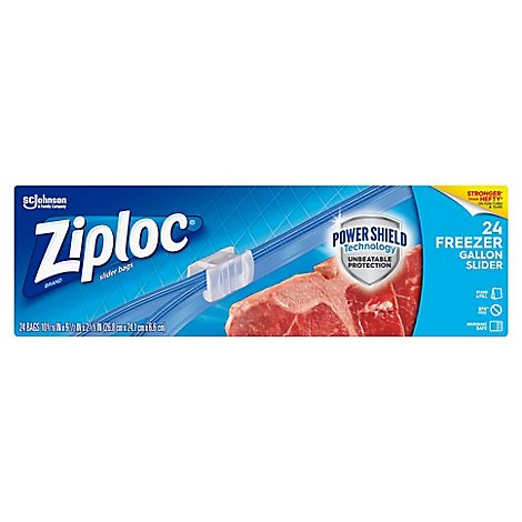 Ziploc Slider Freezer Bags Gallon - 24 Count
