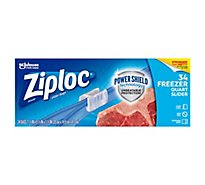 Ziploc Slider Freezer Bags Quart 34 ct