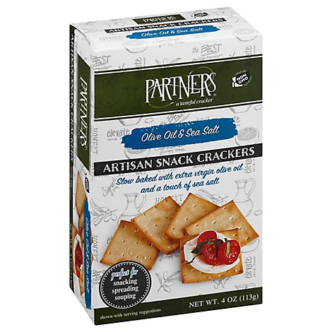 Partners Olive Oil Sea Salt Snack Crackers - 4 Oz