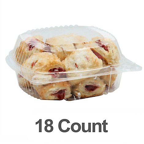 Bakery Pastry Bites Raspberry 18 Count - Each