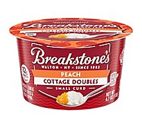 Breakstones Cottage Doubles Cottage Cheese And Fruit Peach - 4.7 Oz