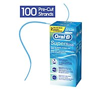 Oral-B Dental Floss Super Floss Pre Cut Strands Mint - 2-50 Count