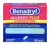 Benadryl Allergy  Congest - 24 Count