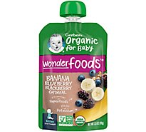 Gerber Organic 2nd Foods Baby Food Fruit & Grain Banana Blueberry & Blackberry Oatmeal - 3.5 Oz