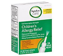Signature Care Allergy Relief Childrens Nasal Spray Fluticasone Propionate 50mcg - .34 Fl. Oz.
