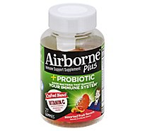Airborne Plus Probiotic Gummies Assorted Fruit Flavors - 27 Count