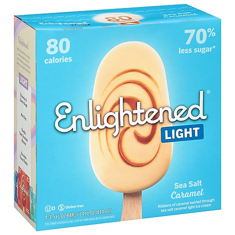Enlightened Ice Cream Bars Light Sea Salt Caramel - 4-3.75 Fl. Oz.