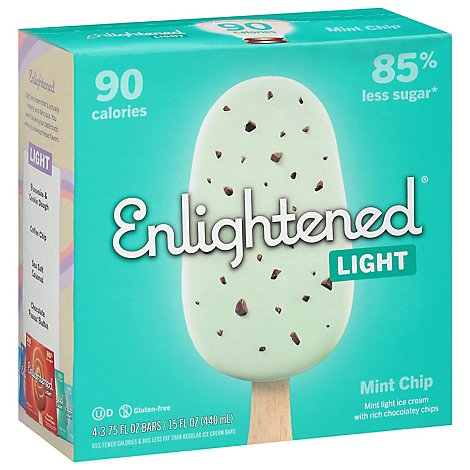 Enlightened Ice Cream Bars Light Mint Chip Swirl - 4-3.5 Fl. Oz.