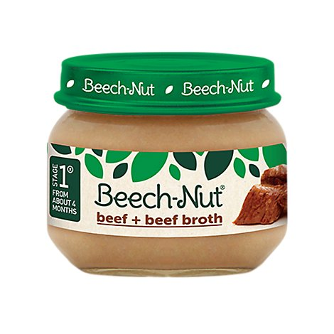 Beech Nut Baby Food Stage 1 Beef & Beef Broth - 2.5 Oz