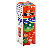 Delsym Cough Chest Congestion Childrens Cherry Flavor - 4 Fl. Oz.