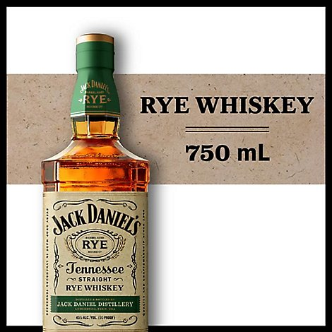 Jack Daniels Whiskey Tennessee Rye 90 Proof - 750 Ml