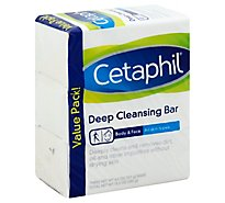 Cetaphil Cleansing Bar Deep Bady & Face - 4.5 Oz