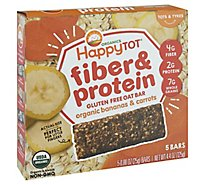 Happy Tot Organics Fiber & Protein Soft Baked Oat Bar Bananas & Carrots - 4.4 Oz
