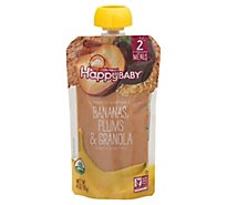 Happy Baby Organics Bananas Plums & Granola - 4 Oz