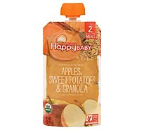 Happy Baby Organics Apples Sweet Potatoes & Granola - 4 Oz