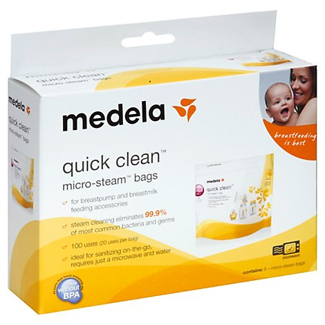 Medela Quick Clean Micro Steam Bags Box - 5 Count