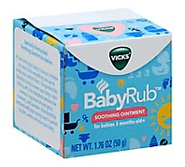 Vicks BabyRub Ointment Soothing For Babies 3 Months Old+ - 1.76 Oz