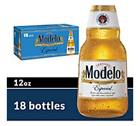 Modelo Especial Beer Mexican Lager 4.4% ABV Bottles - 18-12 Fl. Oz.