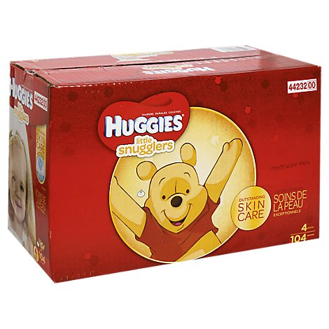 Huggies Little Snugglers Diapers Size 4 - 104 Count