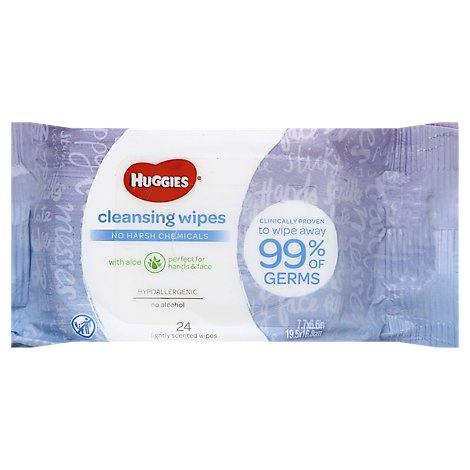 Huggies Cleansing Wipes - 24 Count