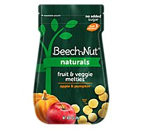 Beech-Nut Melties Fruit & Veggie Apple & Pumpkin Pouch - 1 Oz