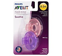 Avent 0-3 Month Pacifier Pnk - 2 Count