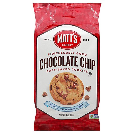 Matts Soft-Baked Cookies Chocolate Chip - 14 Oz