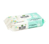 Open Nature Free & Clear Baby Wipes Ultra Soft Fragrance Free - 64 Count