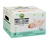 Open Nature Free & Clear Baby Wipes Ultra Soft Fragrance Free - 6-64 Count