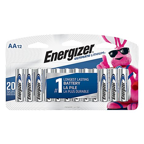 Energizer Ultimate Lithium Camera Battery - AA - Lithium - 12 Pack