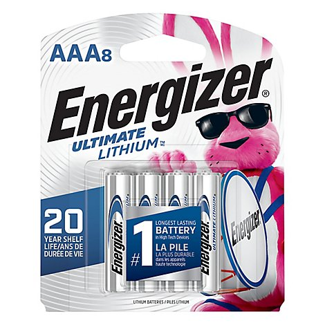 Energizer Ultimate Lithium Camera Battery - AAA - Lithium - 8 Pack