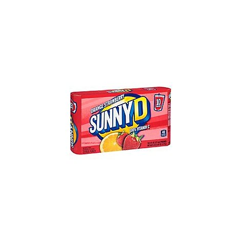Sunny Delight Orange Strwbry Pouches - 10-6 Fl. Oz.