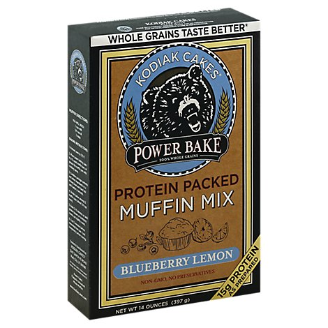 Kodiak Cakes Power Bake Blueberry Lemon Protein Muffin Mix - 14 Oz