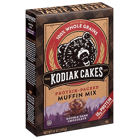 Kodiak Cakes Power Bake Double Dark Chocolate Protein Muffin Mix - 14 Oz