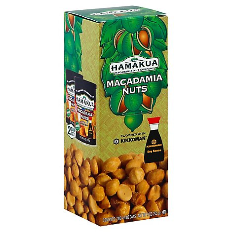 Hamakua Kikkoman Mac Nuts 2 Can Set - 2-4.5 Oz